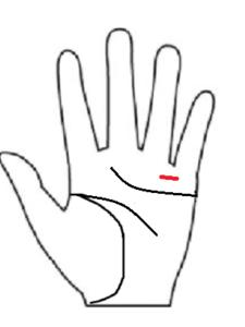 手相小指と薬指間の横線障害線 手相診断 後藤